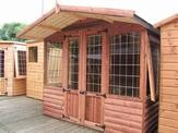 8 x 8 Loglap Lodge + 2ft Canopy
