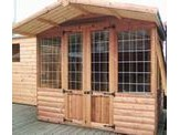 8 x 6 Loglap Lodge + 2ft Canopy
