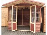 10 x 8 Loglap Lodge + 2ft Canopy